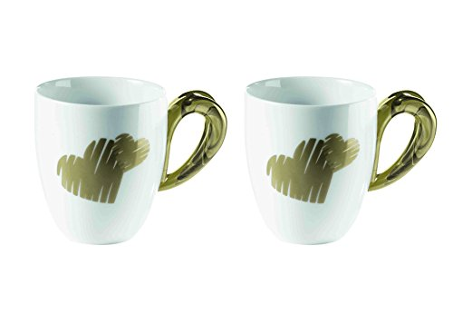Guzzini 8008392290070 Kaffeebecher Love, 2 Stück