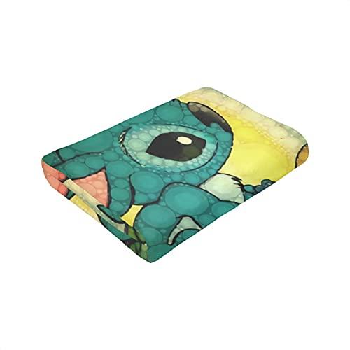 Lilo - Manta para dormir con diseño de dibujos animados para dormir o dormir en la rodilla de la oficina, suave y cómoda manta para la siesta de 152 x 127 cm