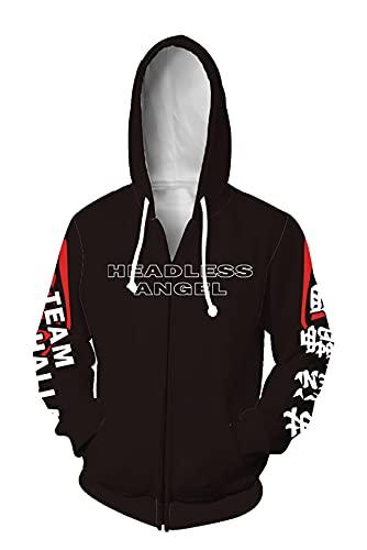 Piccodos Baruhara Tokyo Revengers Hanemiya Kazutora chaqueta con capucha Cosplay Traje de Streetwear Unisex Estampado 3D Chaqueta Sudadera, Negro XL (Chest 113 cm)