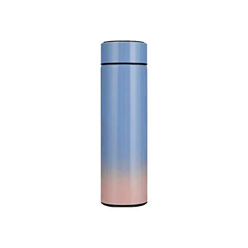 Taza de agua 500ml Inteligente de acero inoxidable Termos Term Temperatura Pantalla Smart Agua Botella Gradiente Frascos de vacío Thermoses Taza de Café envase (Capacity : 500ml, Color : 03)