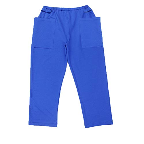 BIHIKI Incontinence Care Trousers Catheter Pants for Elderly/Ostomy Fistula Surgery Patient,Outing Pants,Heathy Care Clothes (Blue, XL)
