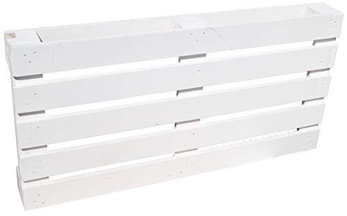 Kistenkolli Altes Land Palette ca 120 x 60 x 13 cm - Natur Weiss geflammt Möbelbau Palettnmöbel (Weiss)