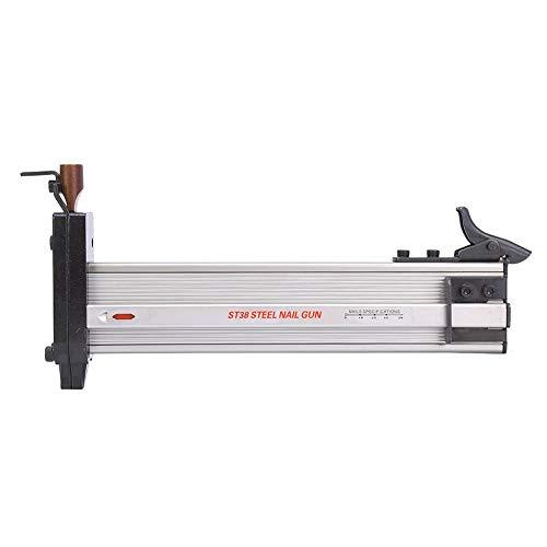 Máquina de clavos manual ST38 Pistola de clavos manual Grapadora de tapicería semiautomática para ingeniería de ranurado con clavos de 100 piezas
