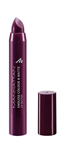 Manhattan Endless Colour & Matte Lip Butter – Lippenstift mit langanhaltendem Matt-Effekt in Mauve – Farbe Pumped! 970 – 1 x 3g