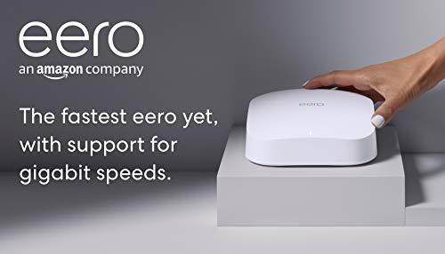 Amazon eero Pro 6 tri-band mesh Wi-Fi 6 router with built-in Zigbee smart...