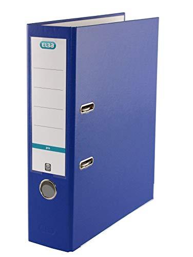 ELBA 100202148 Ordner smart Pro 10er Pack 8 cm breit DIN A4 blau mit Einsteck-Rückenschild und Kunststoffbezug außen