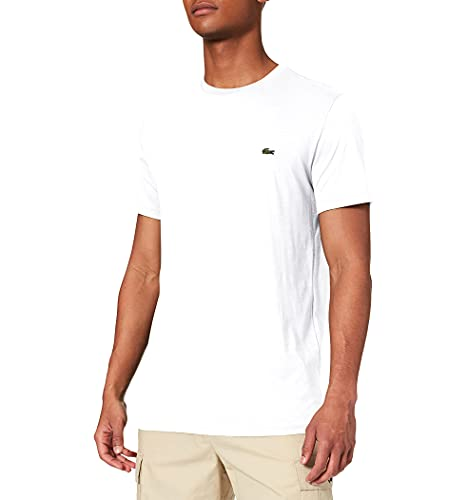 Lacoste Herren T-Shirt Th6709 , Weiß (Blanc) , Large (Herstellergröße: 5)