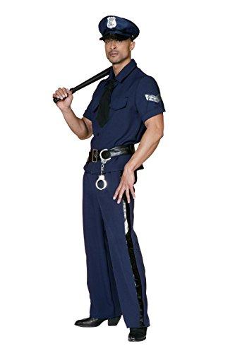Stekarneval - Disfraz de policía adultos, talla UK 42 (507152)