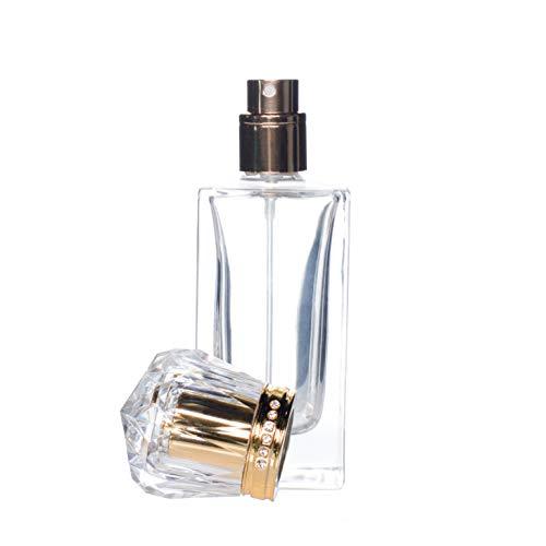 Frasco de perfume de cristal vacío, con atomizador, recargable, 50 ml.