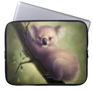 Cute Koala Bear Laptop Sleeve Bag Notebook Computer PC Neoprene Protection Zipper Case Cover 17 Inch