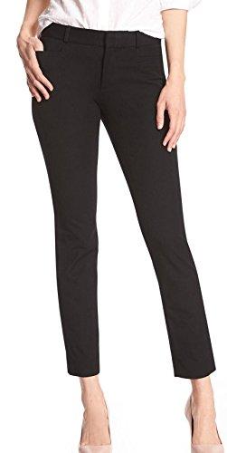 BANANA REPUBLIC Women's Sloan Slim Black Ankle Pant (4)
