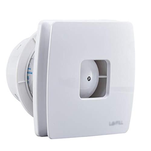 Wtbew-u Extractor De Aire Silencioso Ventilador De Baño Dormitorio Cojinete De Bola Sensor De Humedad 6 Pulgadas Silencioso Ventilador De Bajo Consumo Energético