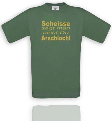 Comedy Shirts Plusieurs Coloris – Trou de Scheisse, on ne Dit Que tu Le Cul. Unisexe Small Olive/Gold