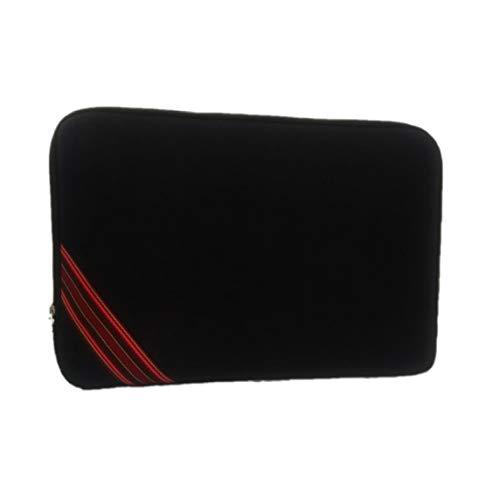 Capa de Notebook 15,6 Polegadas Preta Tira Vermelha