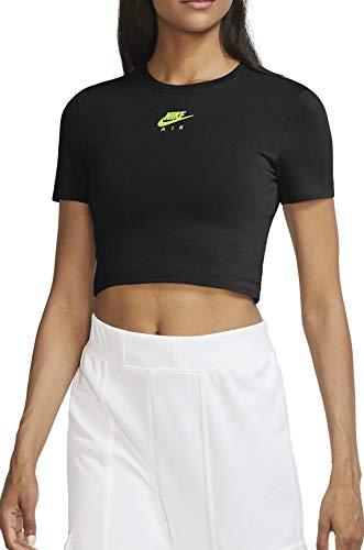 Nike - NSW Air Top SS Crop col 011 CU5562 negro/verde M