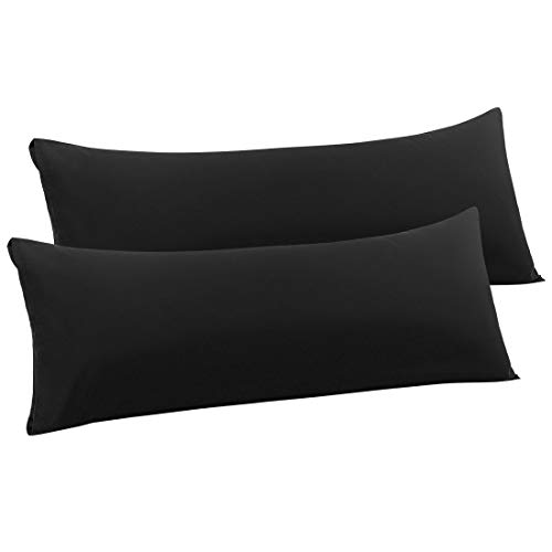 PiccoCasa 2 Packs Body Pillow Case, Luxury 1800 Microfiber...