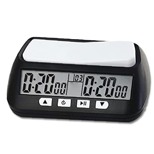 Ajedrez Ajedrez Reloj Temporizador Digital Reloj Temporizador De Cuenta Arriba/Abajo Bono Retardo Inglés Versión Portátil De Juego De Ajedrez