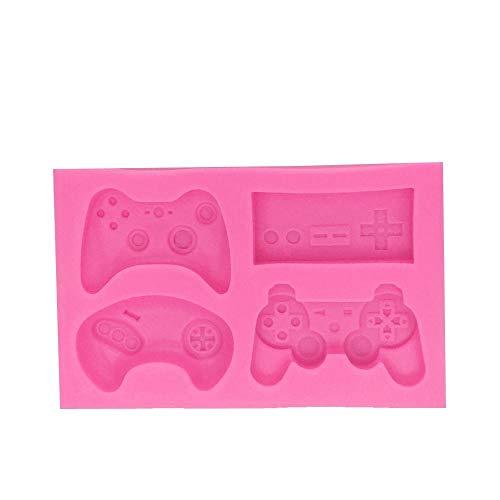 YHKF Formen DIY Tastatur Silikonform Controller Gamepad Spielform Kuchen Dekorationswerkzeug Fondant Schokolade Ton Handwerk Harzform