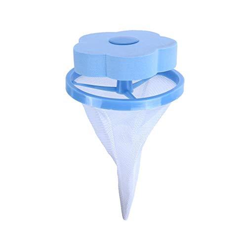 Hozora Lavadora Cazadora de Pieles para Mascotas Flotante Lavado de Pelusas y removedor de Pelo para Mascotas (Azul)