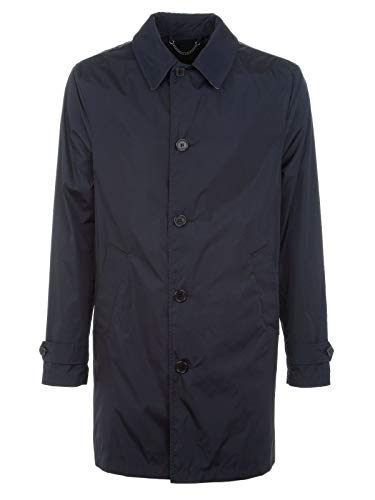 Luxury Fashion | Aquascutum Heren VOYAGERBLU Donkerblauw Polyamide Trenchcoats | Lente-zomer 20