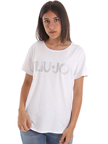 Liu Jo - Camiseta de manga corta para mujer, color negro Bianco M