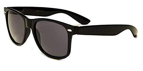 Boolavard TM Sonnenbrille Nerdbrille retro Art. 4026 (Schwarz Tönung)