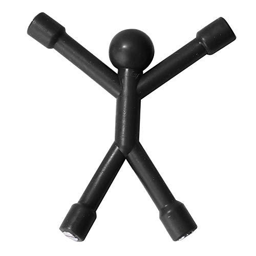 Yanuten Design Key Petite, Mini Soft Wall Climbing Man Strong Magnetic Key Holder Key Pete Key Hook Rack Key Magnet Key Organizer for Fridge Home Office