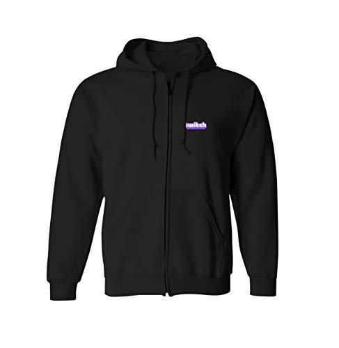 Twitch Core Logo Zipup - Schwarz (Large)