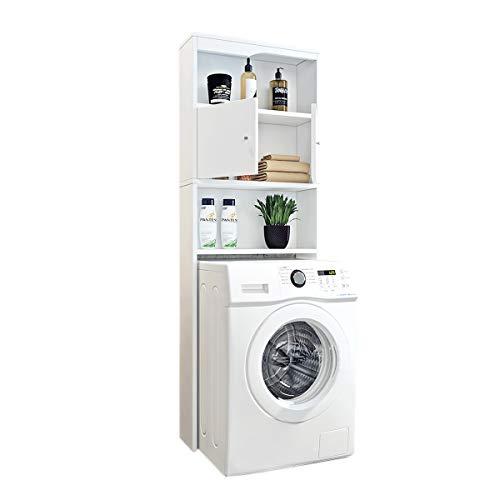 Feenice Waschmaschinen-Überbauschrank Waschmaschinenschrank Badregal Hochschrank Waschmaschine Bad Schrank Badezimmer Waschmaschinenüberbau