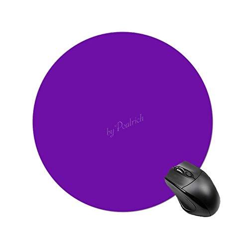 Alfombrilla de ratón antideslizante con base de goma, bonito papel pintado, color morado, impermeable, circular, pequeña, para oficina, hogar, viajes, 7,8 pulgadas