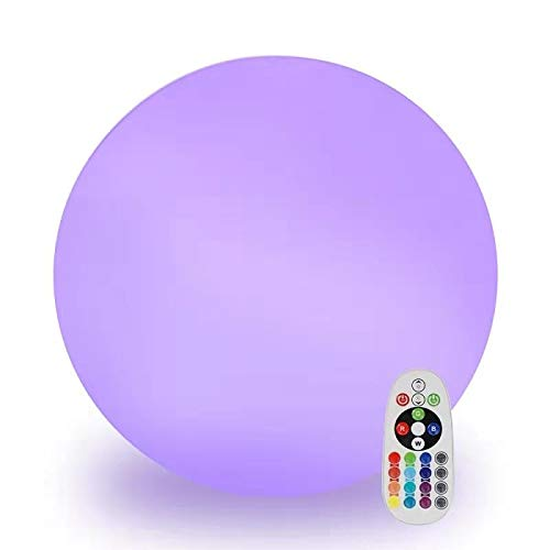 Andota LED, Rechargeable Remote Control Cordless 16 RGB Colors Decorative Waterproof Ball Indoor Outdoor Night Lights for Home Garden(5inch-Sphere)
