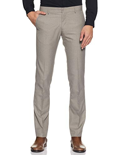 Excalibur by Unlimited Men's Slim Formal Trousers (8907542578412_400016499957_30_Grey)