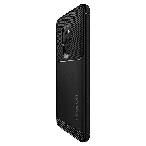 Armorhülle für Huawei Mate 20 Hülle Robuste TPU Silikon Schutzhülle Stylisch Karbon Design Handyhülle Case – Schwarz - 4