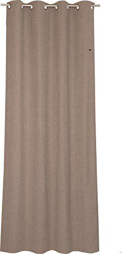 ESPRIT Ösen Vorhang braun Blickdicht • Gardinen Vorhang 2er Set • Ösenschal 140 x 250 cm Harp • 100% Polyester