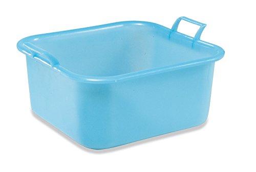 PLASTIME Cuadrado Lavabo, Azul, 15 L