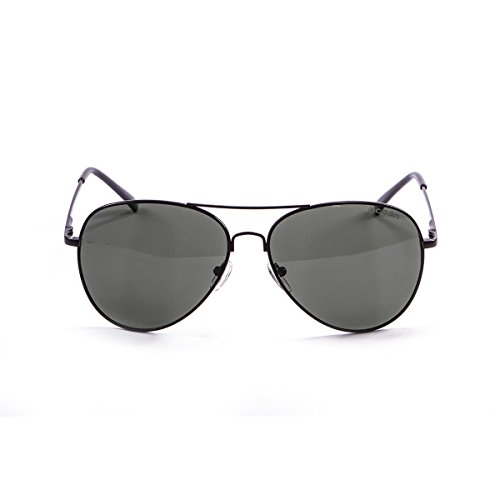 Ocean Sunglasses - Banila aviator - lunettes de soleil en Métal - Monture : Noir Mat - Verres : Fumée (18110.7)