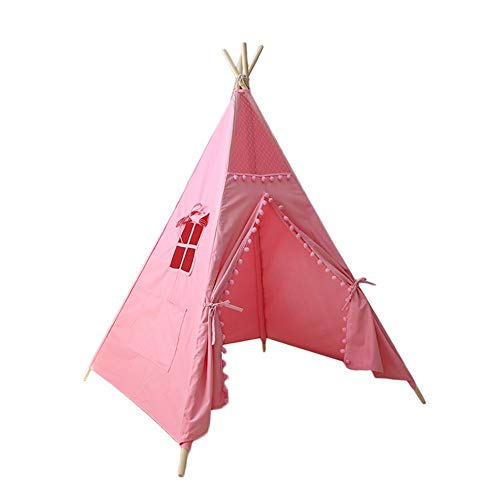 Liergou Childrensplay Tent Teepee Tent For Kids Children Indian Play Tents For Girl And Boy Playhouse Gift for Kids (Color : Pink, Size : ONE SIZE)