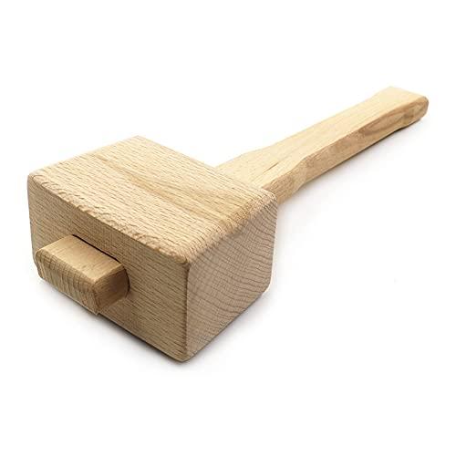 SSXPNJALQ Holzhammer Buchenholzhammer Handhammer Holzbearbeitung Installation Hammer Leder Carving Seal Perkussion Werkzeug