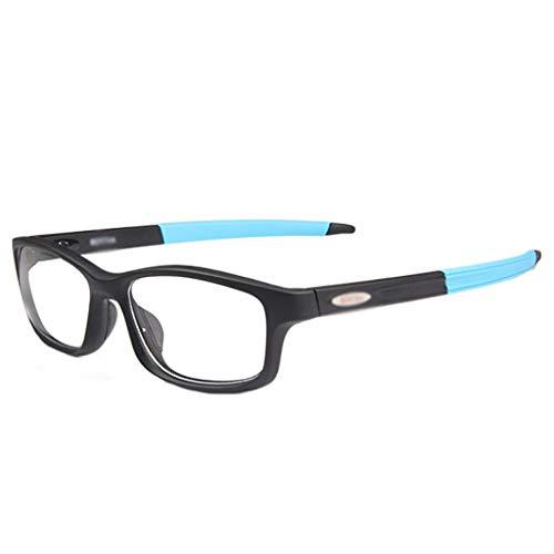 WZHGLASSES Outdoor-Sportbrillen Fußball Basketball Brillen Anti-Fog-Brillen Für Sport Laufen Bergsteigen Fahren Multi-Color (Color : Blue)