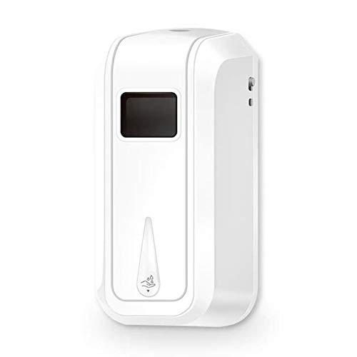 WXQIANG Dispensador de jabón de espuma manual de sensor automático sin contacto Disinfectante desinfectante gel de alcohol aerosol Monte en la pared 1100 ml, utilizado en el baño y los aparatos de jab