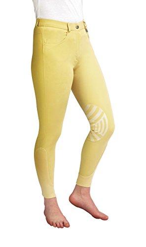 Caldene Competition Caldene CompetitionFemme Derby Taille Basse Silicone Genouillère Beige 61 cm, Femme, Jaune doré, 26-inch