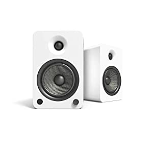 """Kanto YU6 Powered Bookshelf Speakers with Bluetooth® and Phono Preamp, 5.25"""" Kevlar Driver, 200W Peak Power, Matte White from Kanto"""