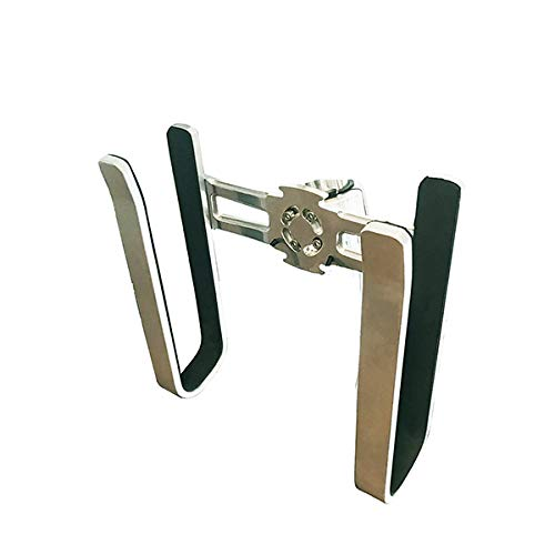 Cradle Wakesurf Tower Rack, Compact Vertical Holder Secures Surfboards Flat Against The Tower, 3.5' Opening, PVC Insert Protects Boards from Dings and Slipping (Wakesurf Rack - Polished)