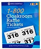 Best Price Square Cloakroom/Raffle Tickets, 1-800 FN3083 by Royle