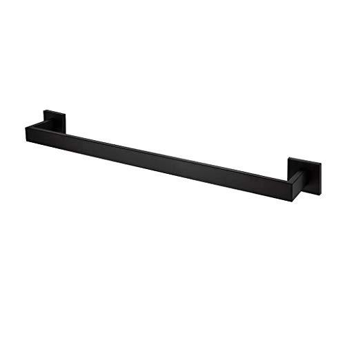 JIASE Tower Racks Towel Rack, Black 304 Stainless Steel Towel Rack Single Towel bar Bathroom Shelf Bathroom Metal Pendant 50cm SE629 (Color : A, Size : 50cm)