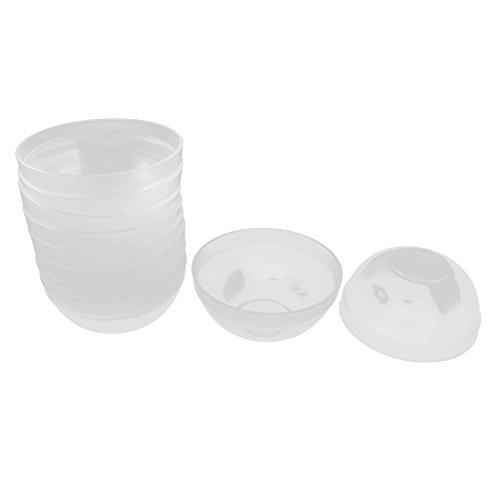 SODIAL(R) Ladies Facial Skin Care Tool Plastic 9cm Dia Mask Mixing Bowl 10PCS