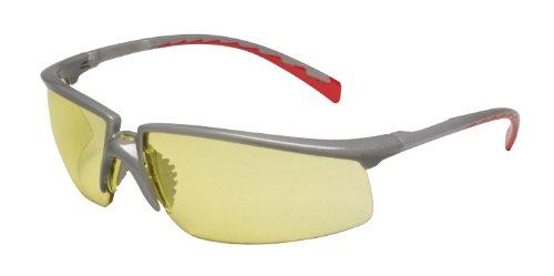 3M Privo Protective Eyewear 12267-00000-20 Amber Anti-Fog Lens, Silver Frame