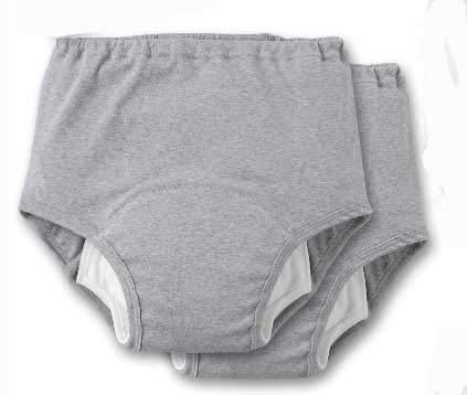 安心さわやかパンツ200男性用 Lサイズ グレー2枚組(紳士用尿漏れ失禁パンツ)日本製