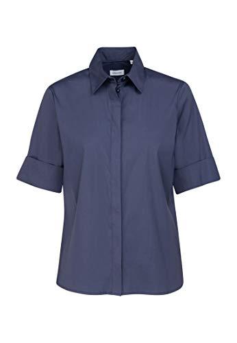 Seidensticker Damen Fashion kurzer Arm Bluse, Blau (19), 42