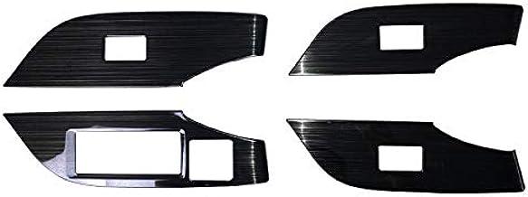 サムライプロデュース トヨタ RAV4 50系 ウィンドウスイッチベースパネル 4P 艶有ブラックヘアライン